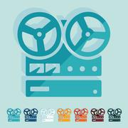 Flat design: stereo recorder Stock Illustration
