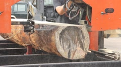 Bandsaw Sawmill - stock footage