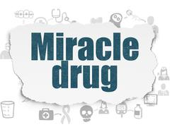 Health concept: Miracle Drug on Torn Paper background - stock illustration