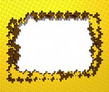 Stock Illustration of Gold cross frame