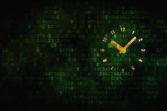 Timeline concept: Clock on digital background Stock Illustration