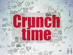 Business concept: Crunch Time on Digital Paper background Stock Illustration