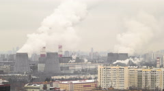 View of the development of Moscow winter day timelapse Stock Footage