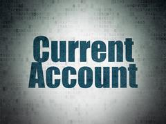 Money concept: Current Account on Digital Paper background Stock Illustration