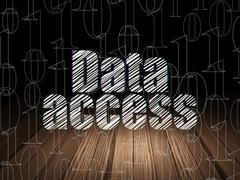 Information concept: Data Access in grunge dark room Stock Illustration