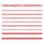 Graphic design elements - red page divider lines - stock illustration