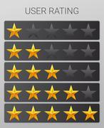 Rating stars set. Web or mobile User feedback concept Stock Illustration
