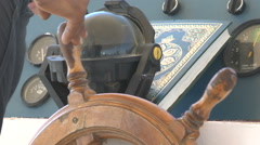 Steering rudder on a ship close up. Stock Footage