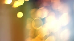 Blurry Lights / Film Clutter / Old Film Look. - stock footage