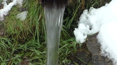Stock Video Footage of Spring with pure  water
