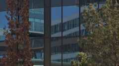 Campus office buildings (fast zoom ins and outs) Stock Footage