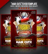 Barbershop Flyer PSD template PSD Template