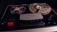 Vintage tape recorder working, Stock Footage
