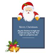 Stock Illustration of Christmas card with Santa Claus