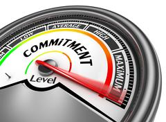 Commitment level to maximum conceptual meter Stock Illustration