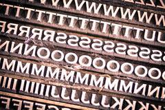 Letterpress Type Background - stock photo