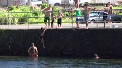 HILO jumper, local gathering place  Hawaii Stock Footage
