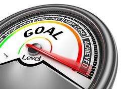 Goal achieved modern conceptual meter Stock Illustration