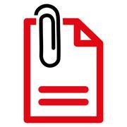Attach Document Icon Stock Illustration