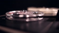 Vintage tape recorder working Stock Footage