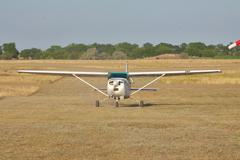 Small private plane - stock photo