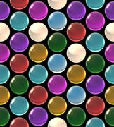Stock Illustration of crystal ball array pattern color