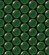 Stock Illustration of crystal ball array pattern green
