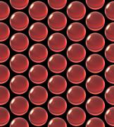 Stock Illustration of crystal ball array pattern red