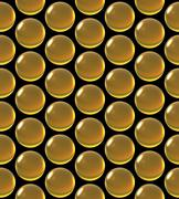 Stock Illustration of crystal ball array pattern yellow