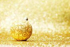 Stock Photo of Glitter christmas ball