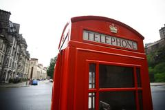 British phone booth - stock photo