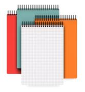 Stack of ring binder notebook isolated on white Stock Illustration