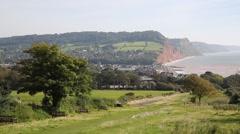 Devon coast Sidmouth England UK Stock Footage