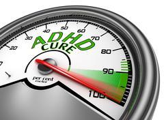 Adhd cure conceptual meter indicate maximum Stock Illustration