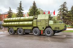 Anti-aircraft missile system (SAM) S-300 Stock Photos