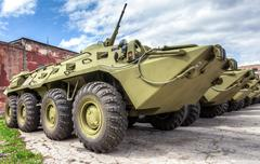 Russian Army BTR-80 wheeled armoured vehicle personnel carrier - stock photo