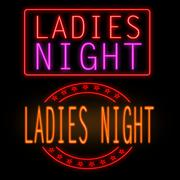 Ladies night neon signs Stock Illustration