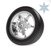 Car winter wheel on white background - stock illustration