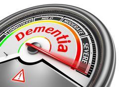 Dementia level conceptual meter indicate alarm Stock Illustration