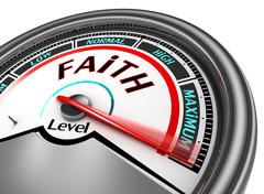 Faith level conceptual meter Stock Illustration