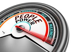 People power conceptual meter - stock illustration