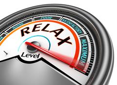 Relax level conceptual meter - stock illustration