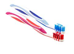 Two Toothbrushs - stock photo