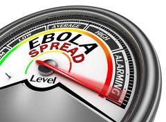 Ebola spread conceptual meter indicate maximum Stock Illustration