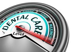 dental care meter indicate maximum - stock illustration