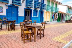 Beautiful Old town replica, Guatape, Colombia Stock Photos
