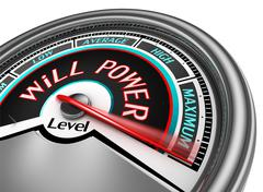 will power conceptual meter indicate maximum - stock illustration
