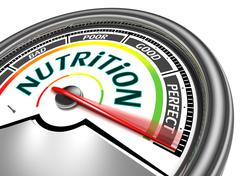 Stock Illustration of nutrition conceptual meter
