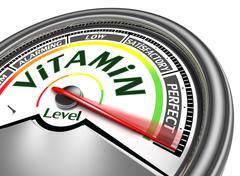 vitamin level conceptual meter - stock illustration