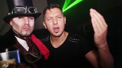 Celebrating Halloween in nightclub in costume party - stock footage
